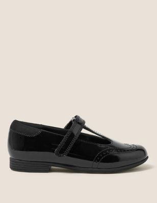 Kids' Leather Freshfeet™ T Bar School Shoes (8 Small - 1 Large)