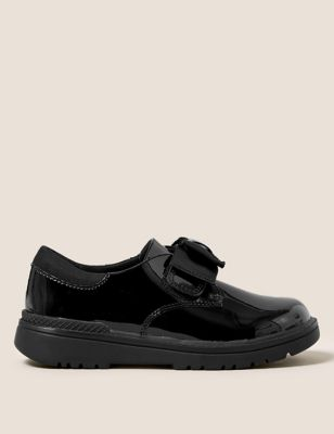 Kids' Leather Freshfeet™ Bow School Shoes (8 Small - 1 Large)