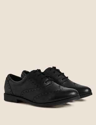 Kids' Leather Lace-up Brogues School Shoes (13 Small - 7 Large)