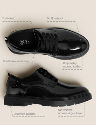Kids' Leather Freshfeet™ School Shoes (13 Small - 7 Large)