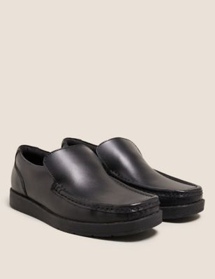 Kids' Leather Slip-on Loafer School Shoes (13 Small - 9 Large)