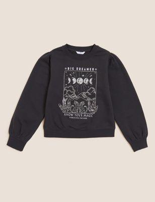 Cotton Cosmic Slogan Sweatshirt (6-16 Yrs)
