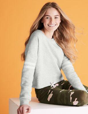 Organic Cotton Sporty Stripe Sweatshirt (6-16 Yrs)