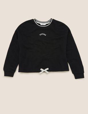 Organic Cotton Future Slogan Sweatshirt (6-16 Yrs)