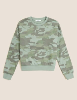 Cotton Camouflage Sweatshirt (6-16 Yrs)