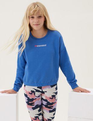 Cotton Embroidered Slogan Sweatshirt (6-16 Yrs)