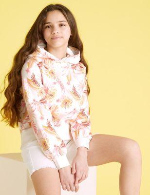 Cotton Tropical Print Hoodie (6-16 Yrs)