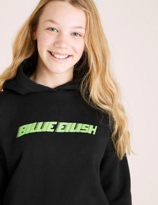 Cotton Billie Eilish Slogan Hoodie (6-16 Yrs)