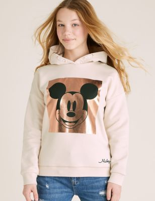 Mickey Mouse™ Cotton Foil Hoodie (6-16 Yrs)