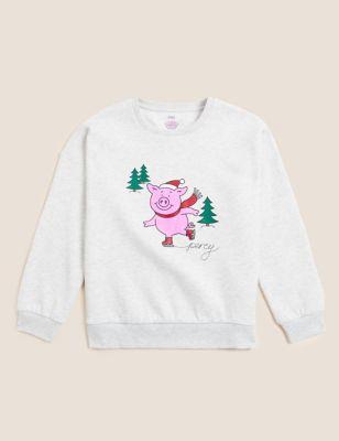 Pure Cotton Percy Pig™ Sweatshirt (2-16 Yrs)