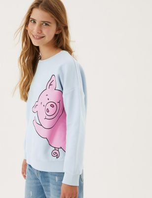 Cotton Percy Pig™ Sweatshirt (2-16 Yrs)