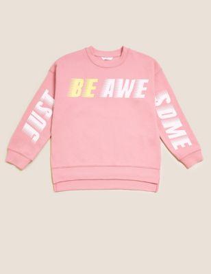 Cotton Slogan Sweatshirt (6-16 Yrs)