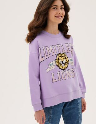 Cotton Limitless Lions Slogan Sweatshirt (6-16 Yrs)