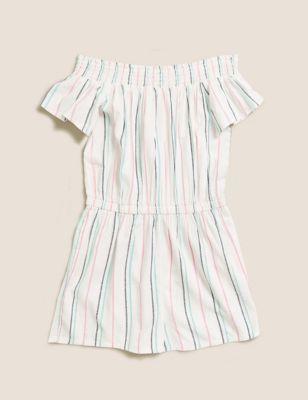Striped Playsuit (6-14 Yrs)