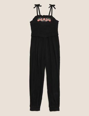 Embroidered Flower Jumpsuit (6-16 Yrs)