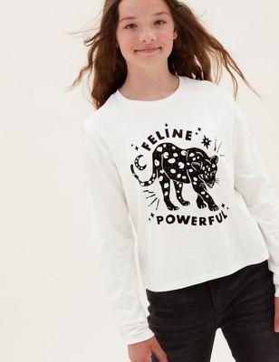 Pure Cotton Gem Slogan Top (6-16 Yrs)