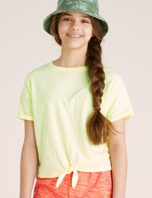 Flower Embroidered T-shirt (6-16 Yrs)