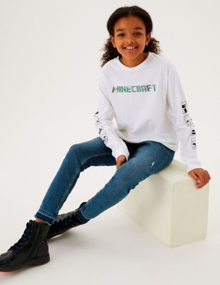 Pure Cotton Minecraft™ Holographic Top (6-16 Yrs)