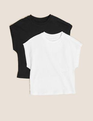 2pk Adaptive Pure Cotton T-Shirts (2-16 Yrs)