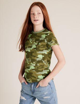 5pk Cotton Ribbed T-Shirts (6-14 Yrs)