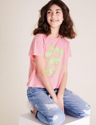 Pure Cotton Minnie™ & Mickey™ T-Shirt (6-16 Yrs)