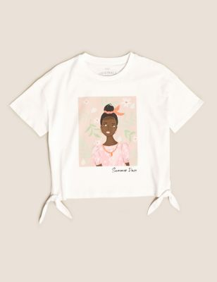 Pure Cotton Girl Gem T-Shirt (6-16 Yrs)