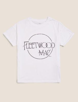 Pure Cotton Fleetwood Mac™ T-Shirt (6-14 Yrs)