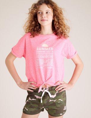 Summer Festival Glitter T-shirt (6-16 Yrs)