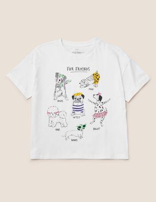 Pure Cotton Dog Gem T-Shirt (6-16 Yrs)