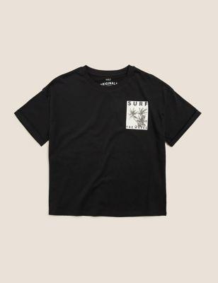 Organic Cotton Surf Slogan T-Shirt (6-16 Yrs)