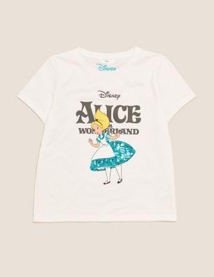 Pure Cotton Alice in Wonderland™ T-Shirt (6-16 Yrs)