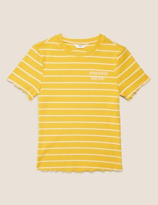 Cotton Kindness Slogan Ribbed T-shirt (6-16 Yrs)