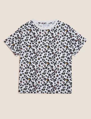 Cotton Leopard Print T-Shirt (6-16 Yrs)