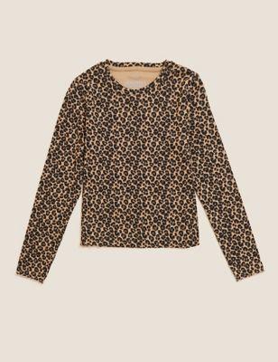 Cotton Leopard Top (6-16 Yrs)