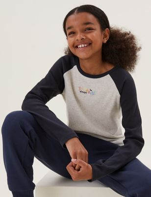 Cotton Be Yourself Slogan Top (6-16 Yrs)