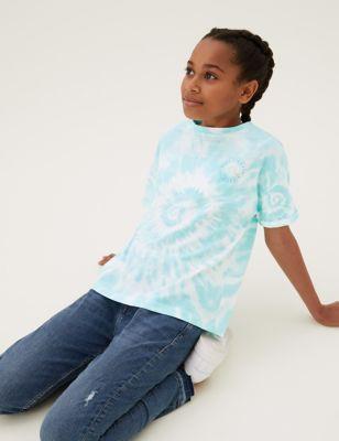 Pure Cotton Tie Dye T-Shirt (6-16 Yrs)