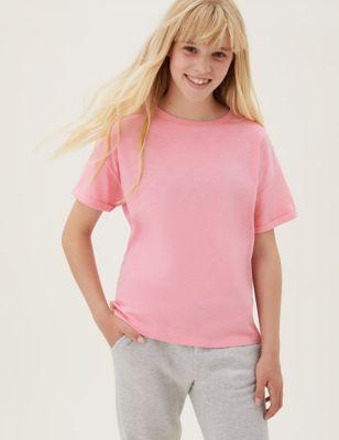 Pure Cotton Plain T-Shirt (6-16 Yrs)