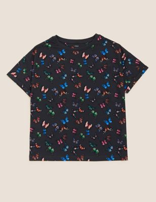 Pure Cotton Butterfly T-Shirt (6-16 Yrs)