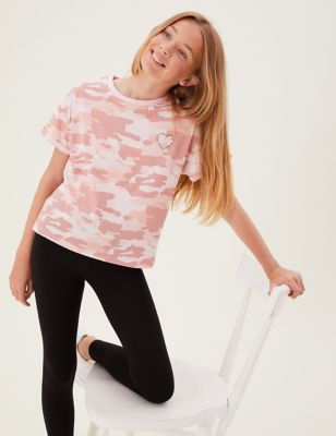 Pure Cotton Camouflage T-shirt (6-16 Yrs)
