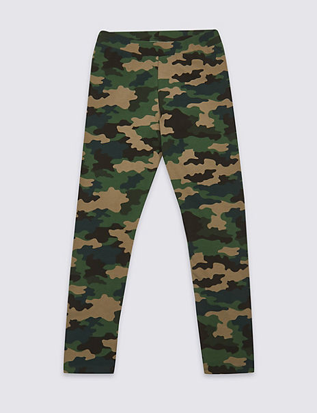 Camouflage Print Leggings with Stretch (3-16 Years)