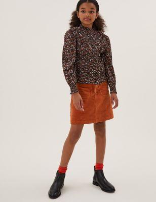 Pure Cotton Cord Skirt (6-16 Yrs)