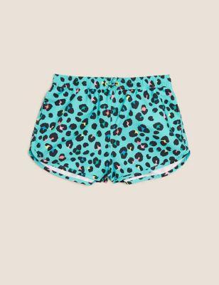Leopard Swim Shorts (6-14 Yrs)