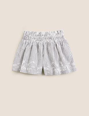 Pure Cotton Striped Shorts (6-16 Yrs)