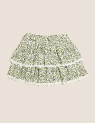 Floral Print Tiered Skirt (6-16 Yrs)