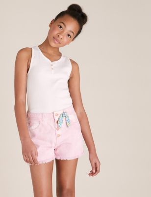 Denim Tie Dye Shorts (6-16 Yrs)