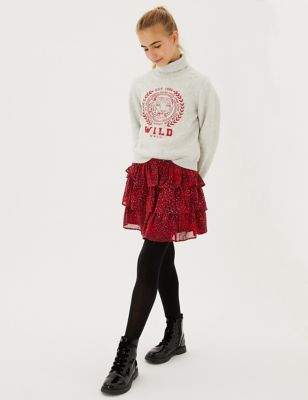 Animal Tiered Skirt (6-16 Yrs)