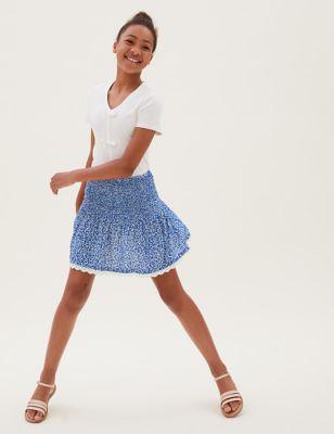 Floral Shirred Skirt (6-16 Yrs)