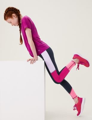 Colourblock Sports Leggings (6-16 Yrs)
