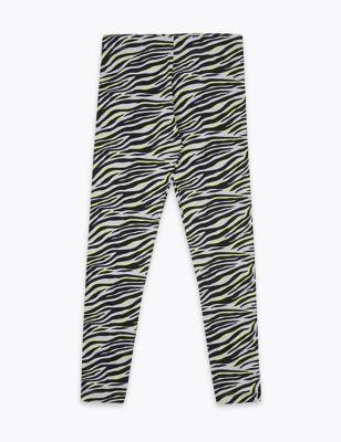 Cotton Zebra Print Leggings (6-16 Yrs)