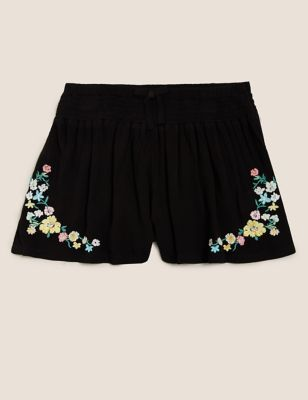 Embroidered Floral Shorts (6-16 Yrs)